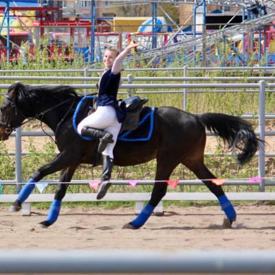 Открытый областной турнир по конно-спортивной джигитовке в Твери, фото 5