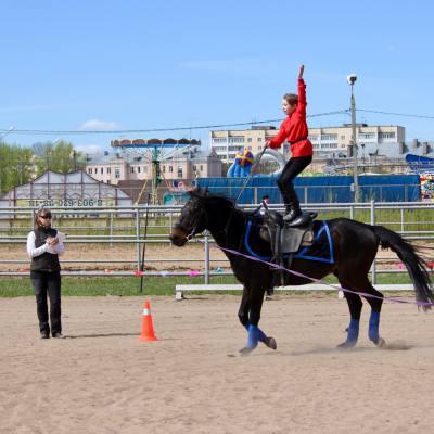 Открытый областной турнир по конно-спортивной джигитовке в Твери, фото 7