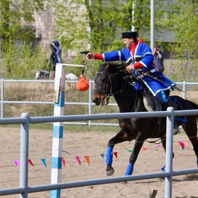 Открытый областной турнир по конно-спортивной джигитовке в Твери, фото 8