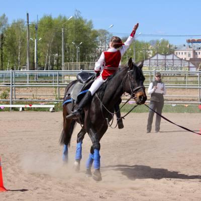 Открытый областной турнир по конно-спортивной джигитовке в Твери, фото 4